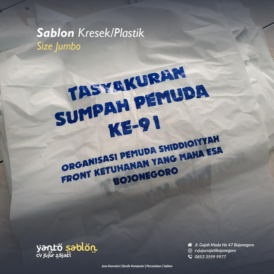 Sablon Plastik/Kresek Bojonegoro