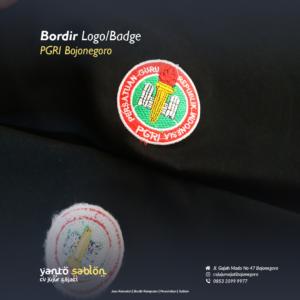 Bordir Logo PGRI Bojonegoro