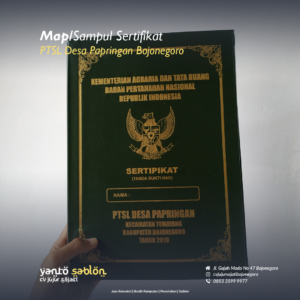 Buat Sampul Sertifikat/Map Bojonegoro
