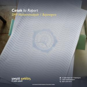 Cetak Isi Raport Bojonegoro