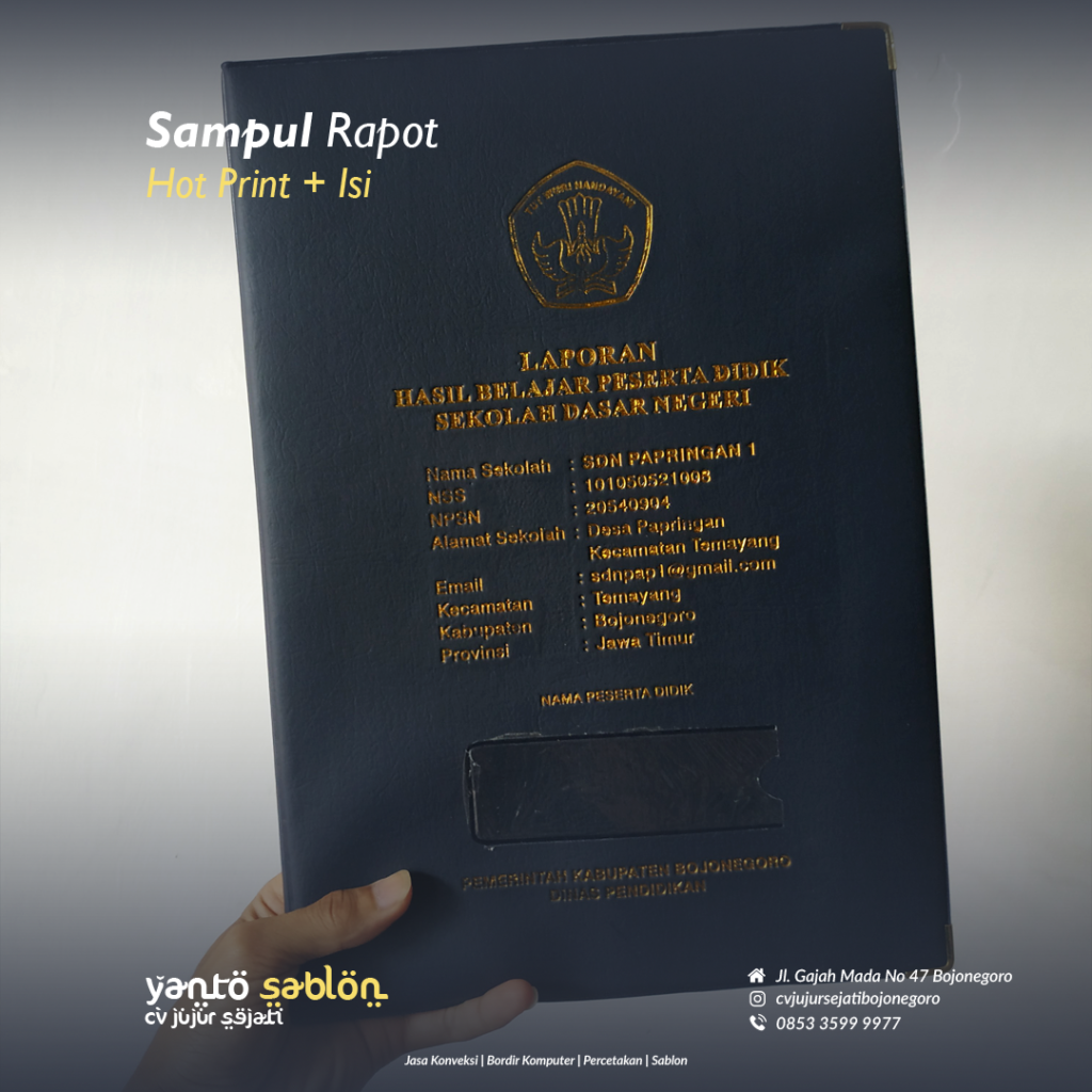 Buat Sampul Raport/Ijazah Bojonegoro/Lamongan/Babat/Tuban
