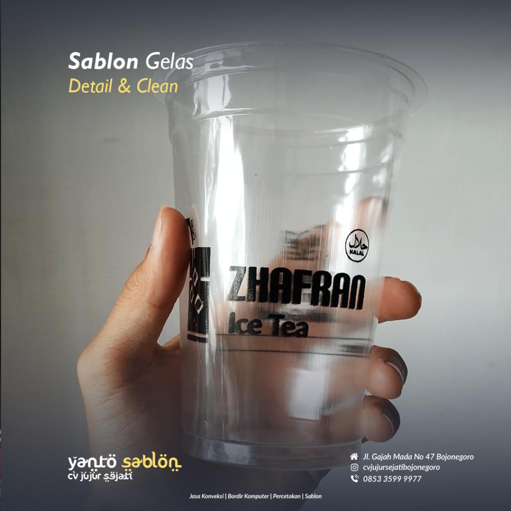 Sablon Gelas Cup Bojonegoro