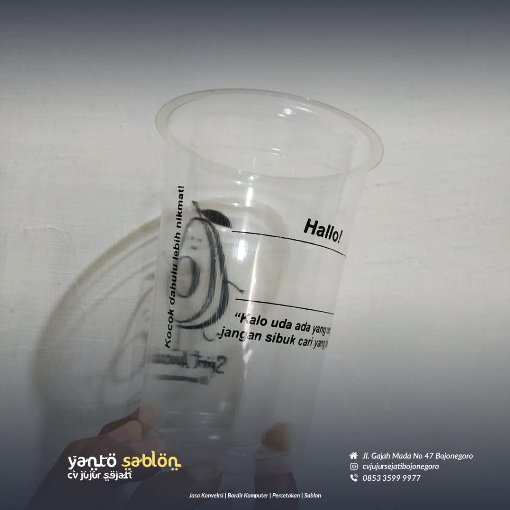 Sablon Gelas Cup Bojonegoro 2