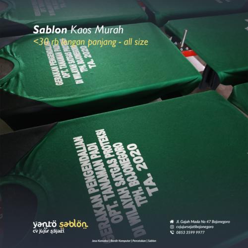 Sablon Kaos Murah Bojonegoro