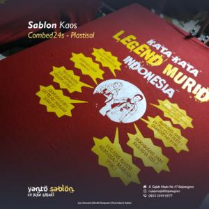 Sablon Kaos Bojonegoro Plastisol 1