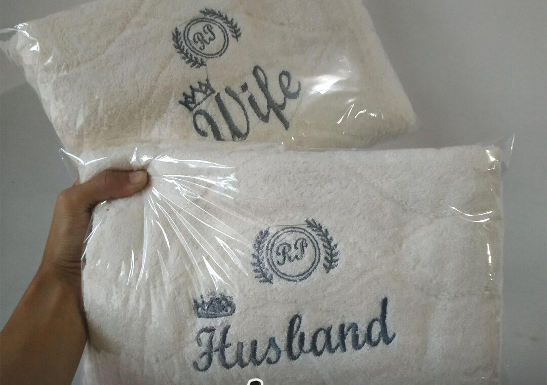 Bordir Handuk Souvenir Nikah di Bojonegoro