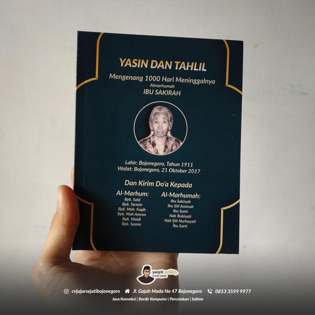 Cetak Buku Yasin Tahlil Custom di Bojonegoro